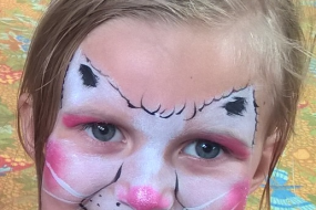 Get Doodled Newquay Face Paint kitty cat