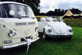 VW camper Bay & VW beetle convertible