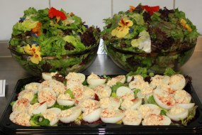 Devilled eggs and green salad