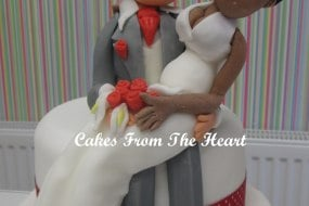 Handmade personalised bride and groom troppers.