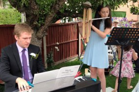 Flute, piano, wedding music, pianist