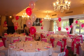 Pink Birthday Party Balloons