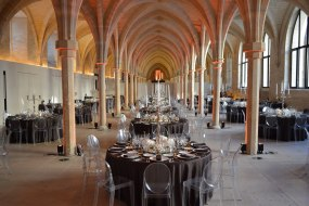 Gala dinner in cathedral like space