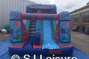 Inflatable garden slide available to hire in St Helens, Wigan, Warrington, Widnes, Leigh and more!