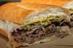 Hot beef sandwiches