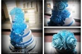 Wedding cake, Tired wedding cake, Sugaf flowers, Peony, Cascading flower wedding cake, Fantabulous Cupcakes