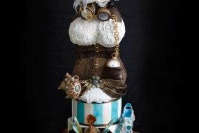 Steam Punk'd Wedding Cake