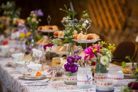 Afternoon tea; vintage china; wedding decorations