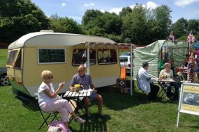 Customers enjoying their drinks at the Shirley Carnival