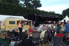 The Little Coffee Caravan enjoying front row entertainment