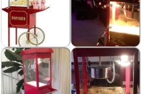 Retro popcorn carts for hire