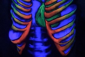 Adult uv body painting