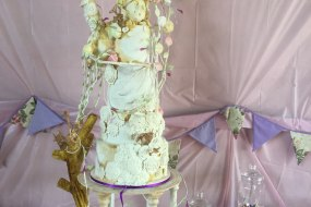"""'There-be Dragons"""" Wedding Cake"""