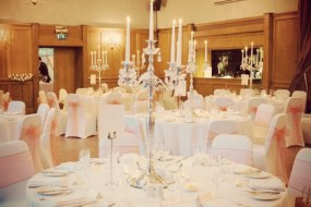 Chair cover hire, candelabra hire, wedding flowers, matlock, derbyshire