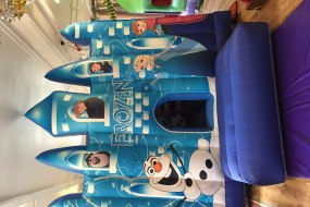 Frozen Ice  palace bouncy castle hire