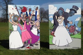 Peep Through Board Wedding Oldfangled Vintage Hire
