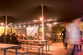 Intent Productons Ltd at Boxpark with custom stretch tent
