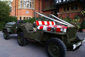 WW2 Jeep wedding car