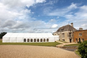 Wedding marquee Rockingham Castle
