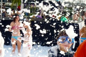 Foam pits and foam parties master blaster foam cannon