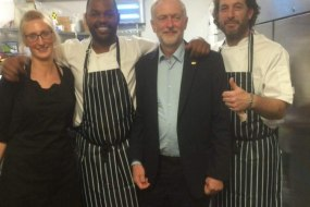 Jeremy Corbyn with the Piquant Team