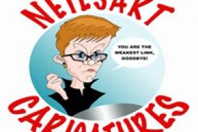 Neilsart caricatures logo