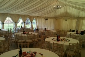 wedding marquee furniture ivory lining