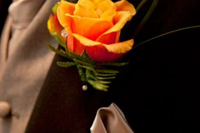 groom rose buttonhole from £3.50