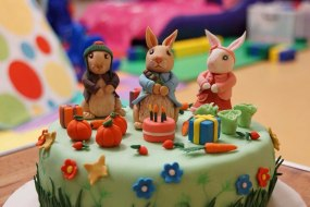 Peter Rabbit Birthday Cake.