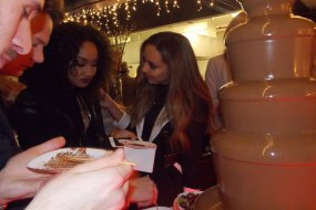 Little Mix with chocolate fountain heaven