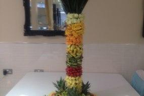 fresh fruit hand made palm trees