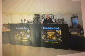 A small bar set up for marquee wedding 280 people