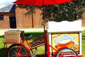 Hot Dog Cart with uniformed server