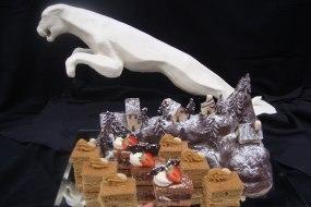 Margarine sculpture centrepiece