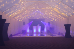 Our fairy light roof canopy transforms a marquee into a wonderful party venue