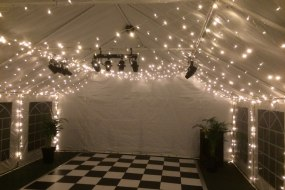 Our fairy light roof canopy