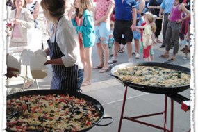 Paella on the seafront