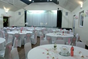 starlight wedding backdrop, chair cover hire london and tablecloth hire london