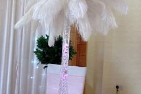 ostrich feather wedding centrepiece hire london, east london, waltham forest