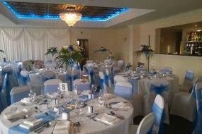 Royal blue and white theme wedding