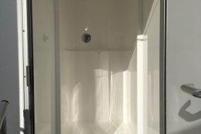 Interior luxury shower trailer