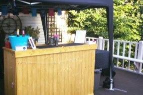 Mobile bar at a garden party