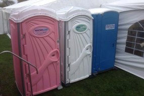 Pink, White or Blue the perfect toilet for you for your occasion