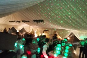 Wedding Discos in Lincolnshire, outside marquee, mobile setup
