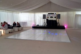 Wedding Discos in West Ella, near Hull, outside marquee, mobile setup