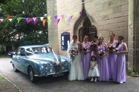 Jaguar S-Type bridal car in Warwickshire