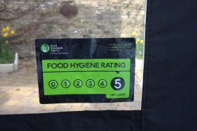 Chuffed with our 5/5 food hygiene rating