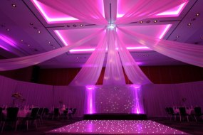 ceiling swags and draping