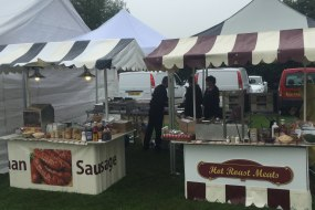 Hot roast carvery & German sausage stands for corporate events & weddings