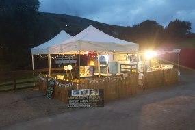 wood fired functions VW camper van wedding set up